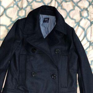 NWOT Navy Blue GAP wool pea coat